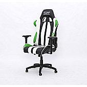 BraZen Sultan Elite PC Gaming Chair - Black/Green/White
