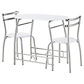 Tesco Breakfast Table and 2 Chair Set, White