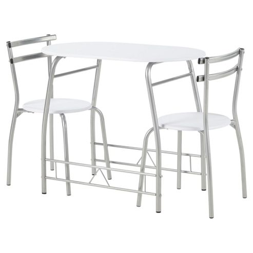 Tesco Breakfast Table And 2 Chair Set White