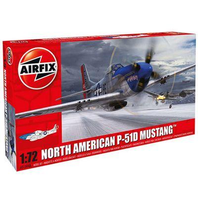 AIRFIX A01004A North American P-51D Mustang 1:72 Aircraft Model Kit