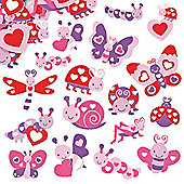 Love Bug Foam Craft Stickers (Pack of 120)