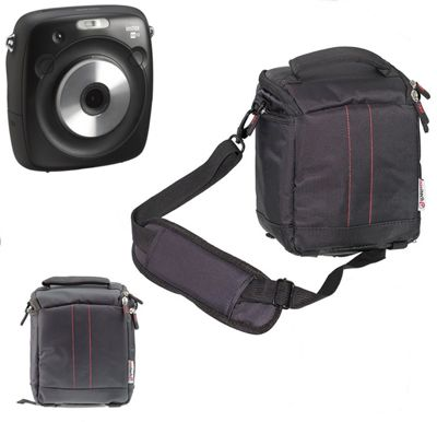 Navitech Black Camera Carrying Case and Travel Bag For The Fujifilm Instax SQUARE SQ10 Hybrid Instant Camera