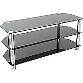 AVF Universal Black and Chrome TV Stand For up to 50 inch TVs