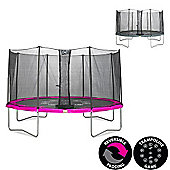 14ft Twist Trampoline Pink / Grey