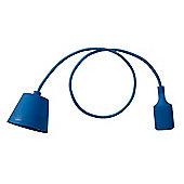 Designer Style Suspended Silicone Ceiling Light, Dark Blue