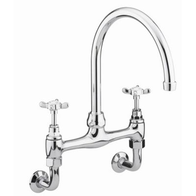 Bristan 1901 Wall Mounted Bridge Sink Mixer Tap Chrome Plated