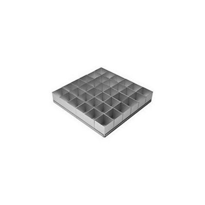 Alan Silverwood 36 Piece Square Mini Cake Pan Set AS-12224