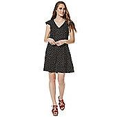 F&F Polka Dot Tea Dress - Black & White