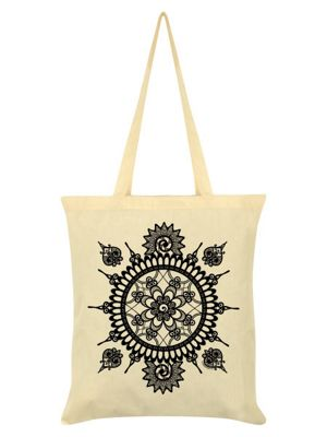 Spiroscopic Dream Cream Tote Bag