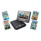 Lava 7 inch Portable DVD Player with Thomas Tank DVD Bundle