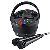 Groov-e Portable Karaoke Machine with CD Player and Bluetooth Playback - Black