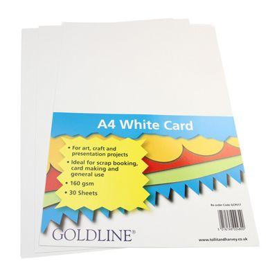 White Card A4 160gsm - 30 Pk