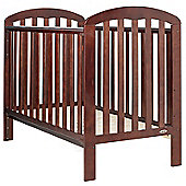 Obaby Lily Cot and Mattress - Walnut