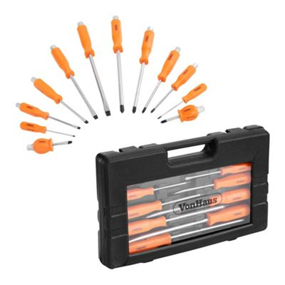 VonHaus 12 Piece Heavy Duty Mechanic / Engineer Screwdriver Set