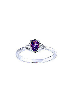 QP Jewellers Diamond & Amethyst Allure Ring in 14K White Gold