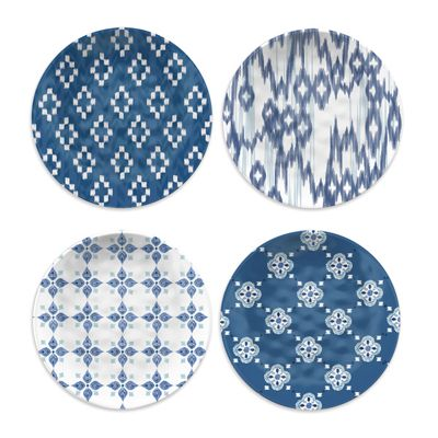 Epicurean Kyoto Melamine Side Plates Set of 4