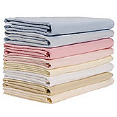 2 Pack Cot Bed Flannelette Sheets (Cream) 140cm x 180cm