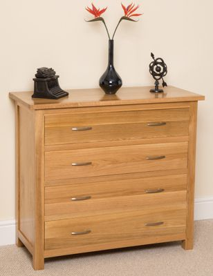 Boston Solid Oak 4 Drawer Chest