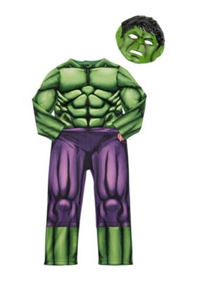 Marvel Avengers The Incredible Hulk Glow in the Dark Fancy Dress Costume 5-6 years Green