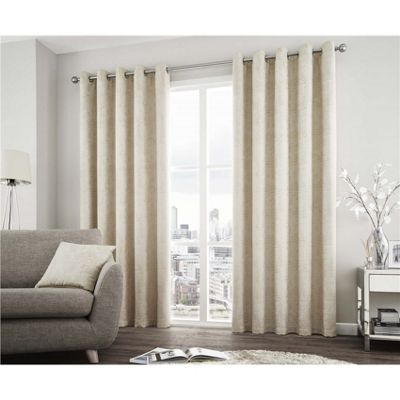 Curtina Solent Natural Eyelet Curtains - 66x72 Inches (168x183cm)