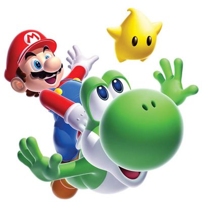 Childrens Wall Stickers - Giant Super Mario Galaxy 2 Mario & Yoshi