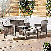 VonHaus 4 Piece Rattan Sofa Set – Grey