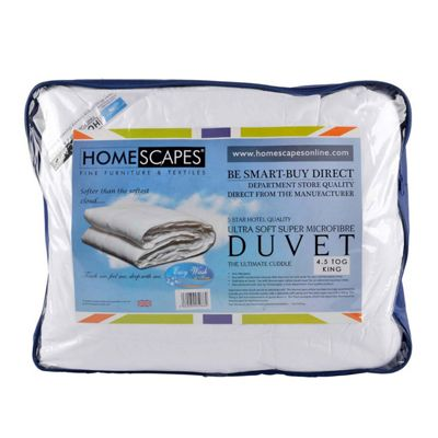 Homescapes Luxury Hotel Quality Super Microfibre 4.5 Tog King Size Summer Duvet Quilt