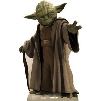 Star Wars Yoda Cardboard Cutout - 76cm
