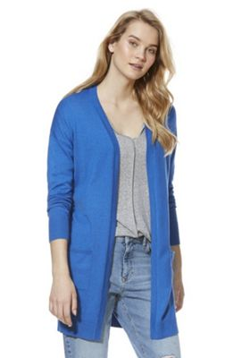 F&F Open Front Long Line Cardigan Cobalt Blue 8