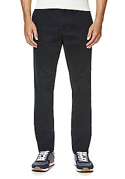 F&F Slim Fit Stretch Chinos - Navy