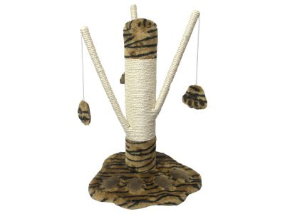 Rosewood Pet Products Catwalk Catnip Parma Plush Animal Print Cat Scratcher