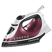 Russell Hobbs 18680 Non Stick Plate Steam Iron - Red & White