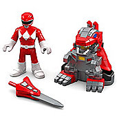 Imaginext Power Rangers Battle Armor Ranger Red