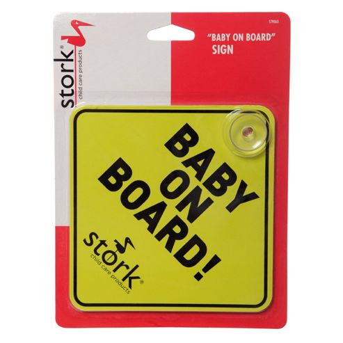 Stork Childcare Products Baby On Board Sign