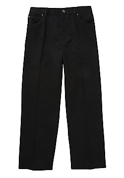 F&F School Boys 5 PocketTrousers - Black