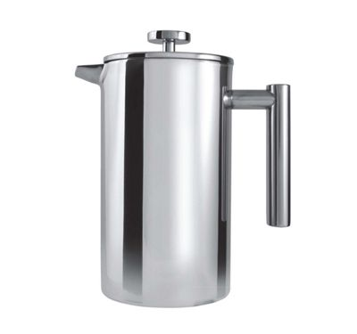 Grunwerg Stainless Steel 12 Cup Double Walled Cafetiere CFD-12