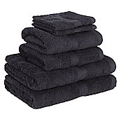 Homegear Egyptian Style Luxury Cotton Bath Towel Bale 6 Piece Set - Black