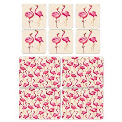 Sara Miller Flamingo Placemats and Coasters Set