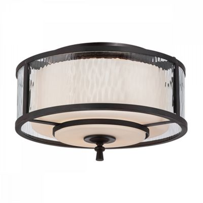 Dark Cherry Flush Light - 2 x 60W E27