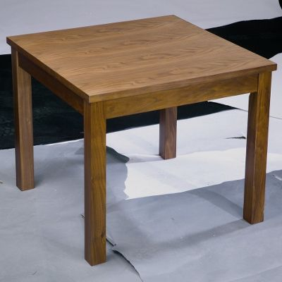 Home Zone Occasional Lamp Table in Walnut