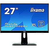 "Iiyama ProLite XUB2792QSU-B1 - LED monitor - 27"" - 2560 x 1440 - AH-IPS - 350 cd/m² - 1000:1 - 5 ms - HDMI, DVI, DisplayPort - speakers - black"