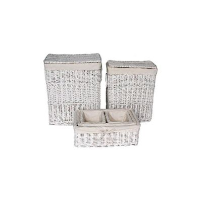 Wicker Valley Willow Laundry and Storage Basket in White (Set of 6)