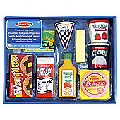 Melissa & Doug Wooden Toy Set Fridge Food