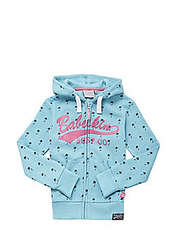 Babeskin Palm Print Zip-Through Hoodie - Turquoise