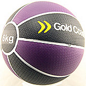 Gold Coast 6kg Heavy Duty Rubber Medicine Ball - For Weights Training Exercise Fitness MMA Boxing