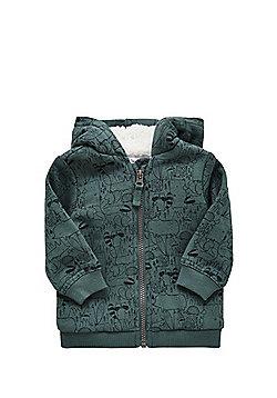 F&F Woodland Print Fleece Lined Hoodie - Green