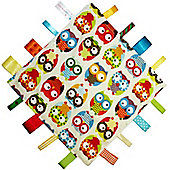 Dotty Fish Baby Tag Blanket - Owls