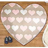 Heart Shaped Lightweight Mat 83 x 83 cm