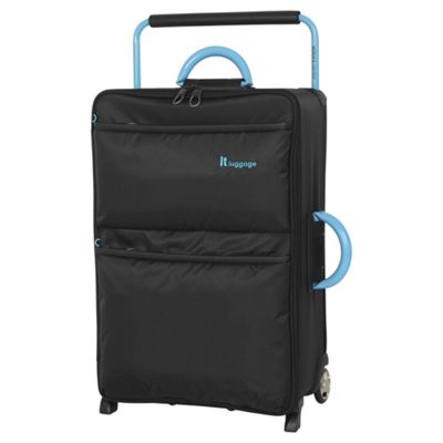 Buy IT Luggage World's Lightest 2 wheel Large Black Suitcase from ...
