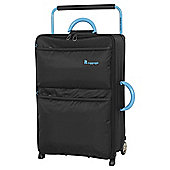 IT Luggage World's Lightest 2 wheel Large Black Suitcase